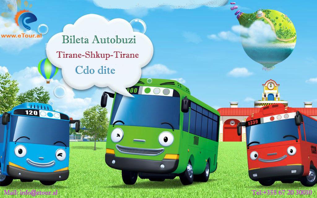 Bileta Autobuzi Tirane- Shkup